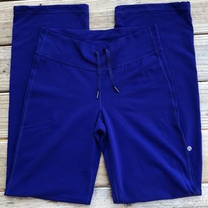 Lululemon Royal Blue wise leg active pants